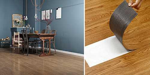 ▲超耐磨PVC木紋地板一坪約NT$900,與打掉磁磚的費用相比,可說是非常超值!